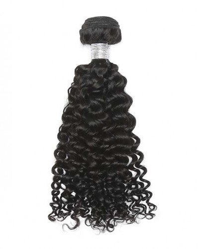 4 Bundles Deep Curly Brazilian Virgin Hair Weaves With A Closure