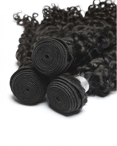 Deep Curly Brazilian Virgin Hair 1 Piece Human Hair Extensions