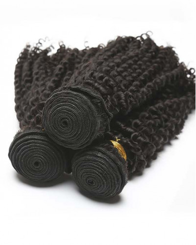 Kinky Curly Brazilian Virgin Hair 1 Piece Human Hair Extensions