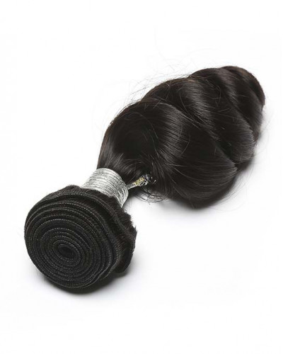 Loose Wave Brazilian Virgin Hair 1 Piece Human Hair Extensions