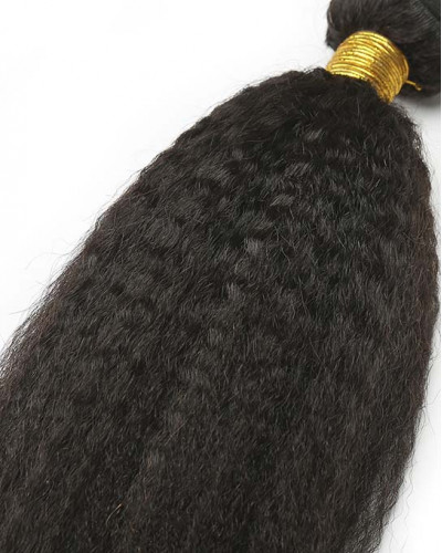 Kinky Straight Brazilian Virgin Hair 1 Piece Human Hair Extensions