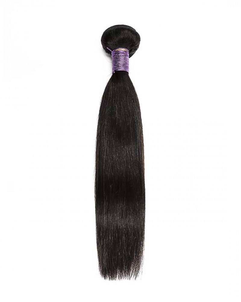 Silky Straight Brazilian Virgin Hair 1 Piece Human Hair Extensions