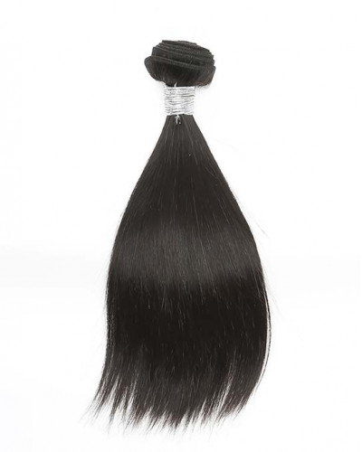 Yaki Straight Brazilian Virgin Hair 1 Piece Human Hair Extensions