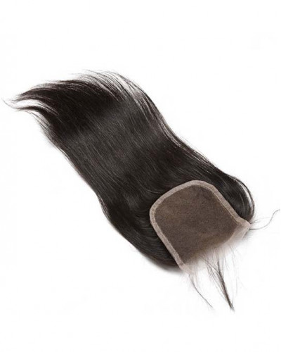 4x4 Lace Closure Natural Color Silky Straight Brazilian Virgin Hair