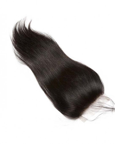 4 Bundles Silky Straight Brazilian Virgin Hair Weaves Bundles With A Closure