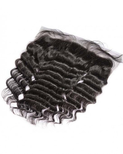 4 Bundles Deep Wave Brazilian Virgin Hair Weaves Bundles With A Lace Frontal