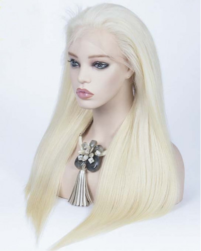 613 Color Silky Straight Human Hair Lace Front Wigs
