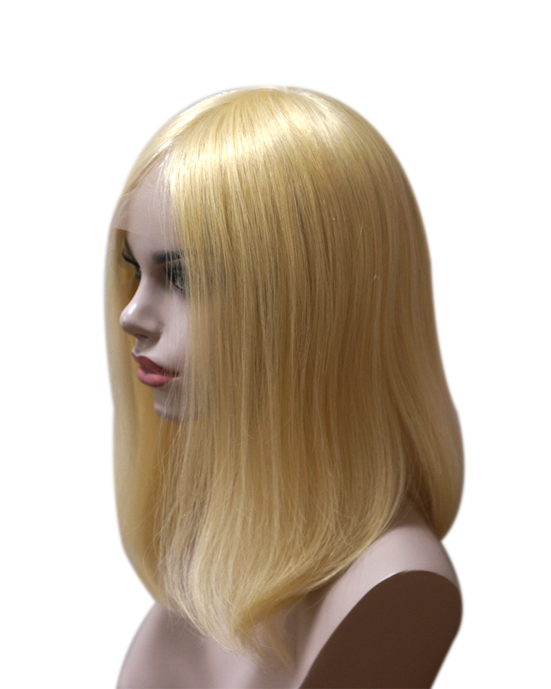 New arrival Pre-plucked 613 blonde human hair bob lace wigs| silky straight