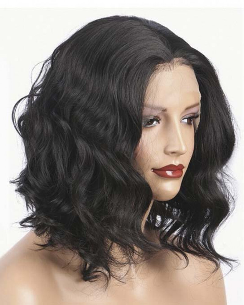 Body Wave Bob 150% Density Brazilian Virgin Hair Lace Front Wigs