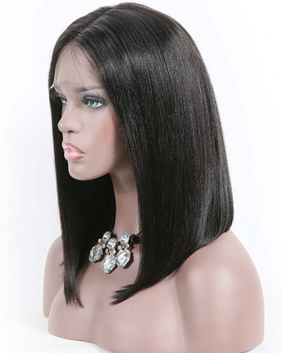Natural Hairline Long Bob 150% Density Lace Front Wigs