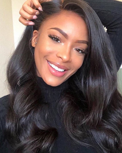 Fake scalp high quality body wave lace front wig