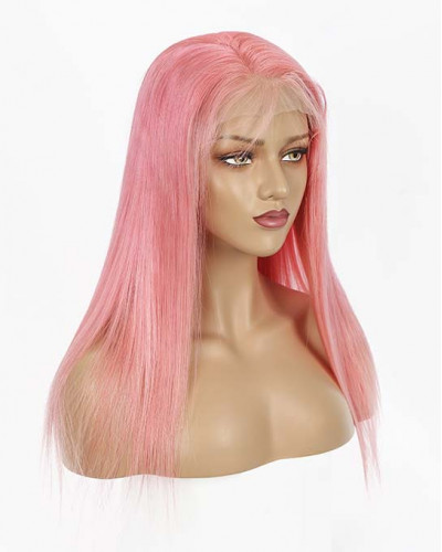 Hot Sale Pink Color 150% Density Lace Front Wig