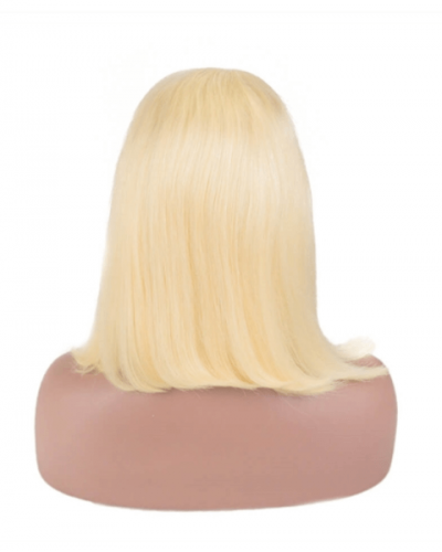 Short Blonde Wig Bob Sexy Hair Lace Front Wig Brazilian Hair
