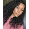 6in Lace Front Wigs Deep Curly Pre-Plucked Brazilian Virgin Hair