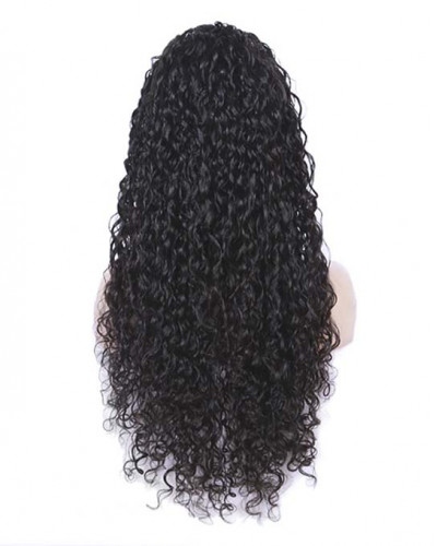 Top Knot Curly Hair Lace Front Wigs Brazilian Virgin Hair