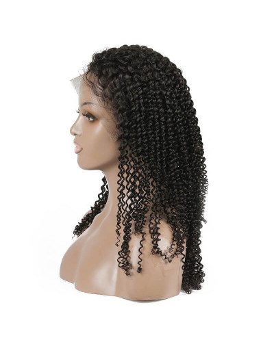 100% Brazilian Human Hair Kinky Curly 150% Density Full Lace Wigs