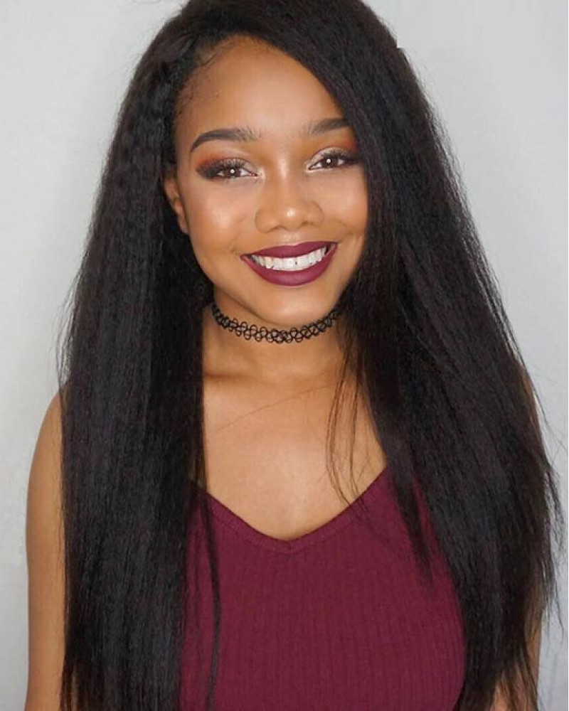 2018 New Arrival Kinky Straight 150% Density Full Lace Wigs