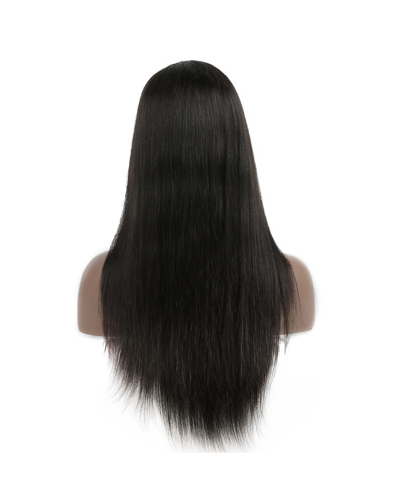 Pre-Plucked Silky Straight 150% Density Black Color 360 Lace Wigs