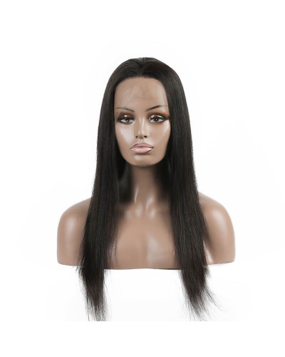 Fake scalp Pre-plucked Front Lace Wig Straight Human Hair