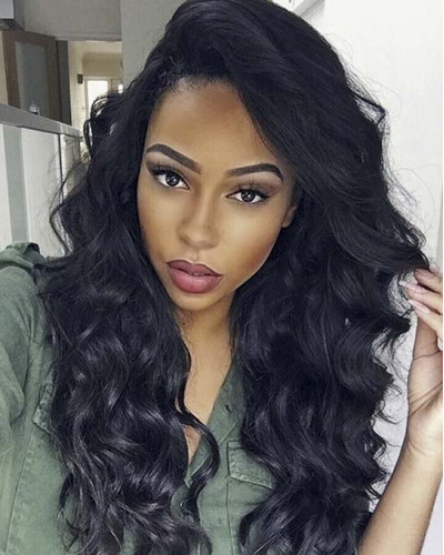 6in Lace Front Wigs Body Wave Brazilian virgin Hair