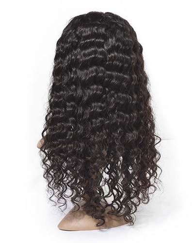 6in Deep Wave Brazilian Virgin Hair Lace Front Wigs
