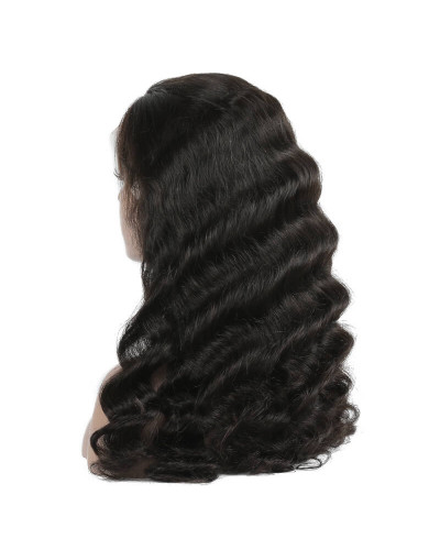 6in Loose Wave Brazilian Virgin Hair Lace Front Wigs
