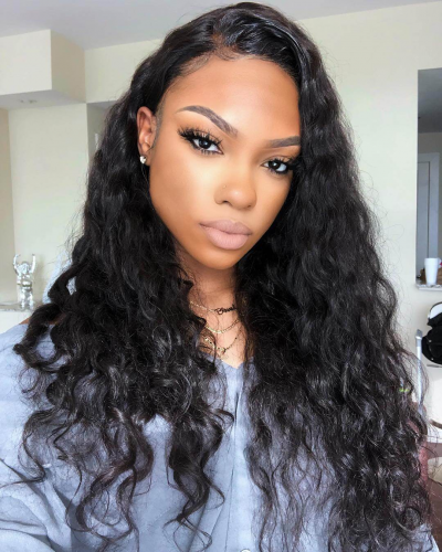 Pre Plucked Loose Wave Brazilian Virgin Hair Lace Front Wigs