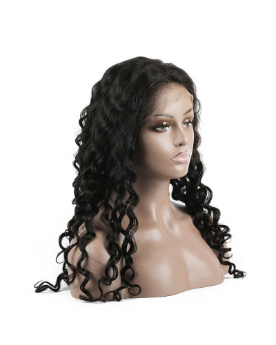 Pre-Plucked Water Wave Brazilian Virgin Hair Lace Front Wigs