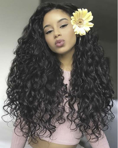 6in Lace Front Wigs Water Wave 150 Density Brazilian Virgin Hair