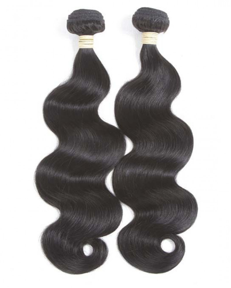 2 Bundles Body Wave Brazilian Virgin Hair Weaves With A Lace Frontal