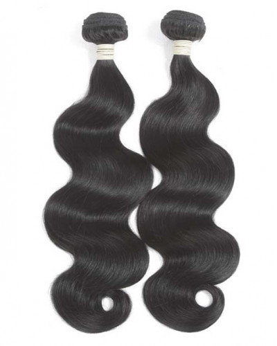 Virgin Brazilian Hair Body Wave 360 Lace Frontal With 2 bundles