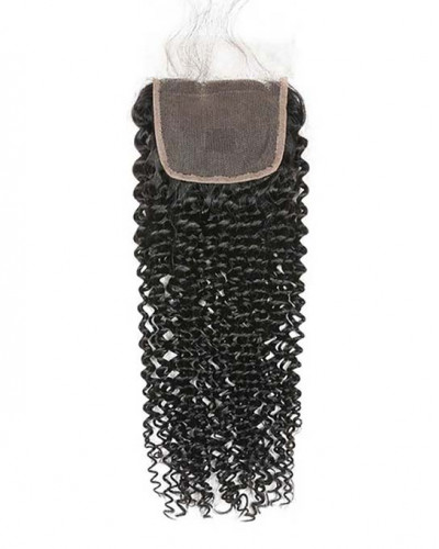 3 Bundles Kinky Curly Brazilian Virgin Hair Weaves With A Lace Closure