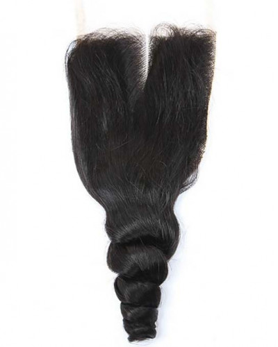 3 Bundles Loose Wave Brazilian Virgin Hair Weaves With A Lace Closure
