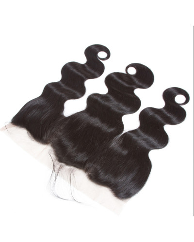 3 Bundles Body Wave Brazilian Virgin Hair Weaves With A Lace Frontal
