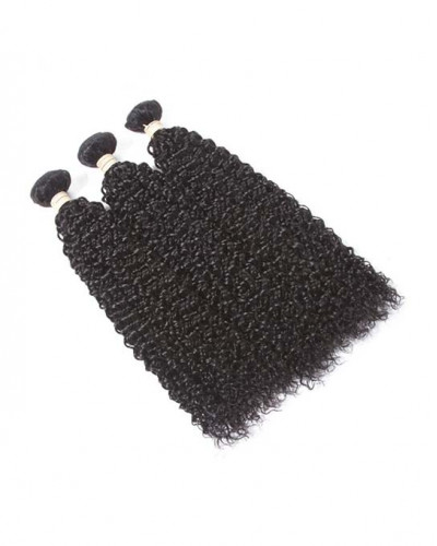 Indian Virgin Hair Weave Natural Color Kinky Curly 3pcs Bundles