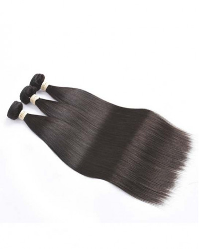 Indian Virgin Hair Weave Natural Color Silky Straight 3pcs Bundles
