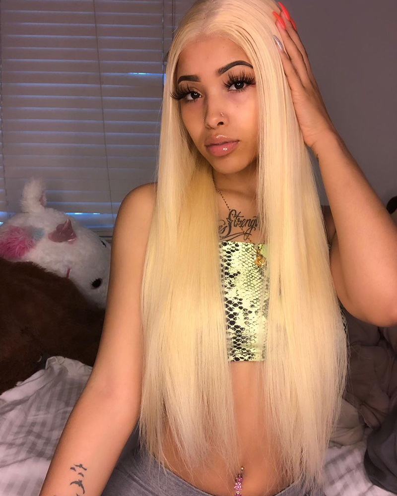 kylahshanae|360 lace wigs|blonde color|straight hair