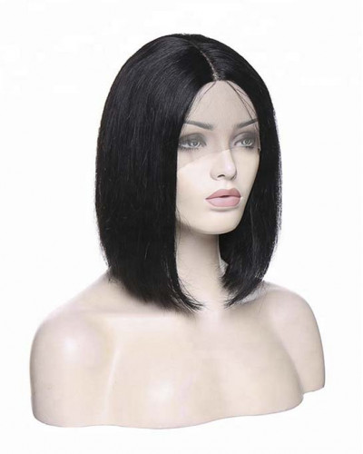Hot Sale Virgin Human Hair Silky Straight Short Bob 360 Lace Wigs