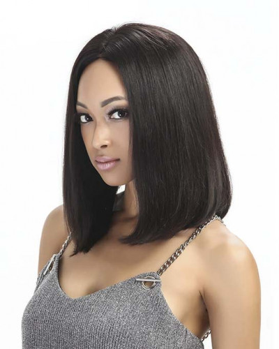 Long Bob Style Pre-Plucked 150% Density Brazilian Virgin Hair 360 Lace Wigs