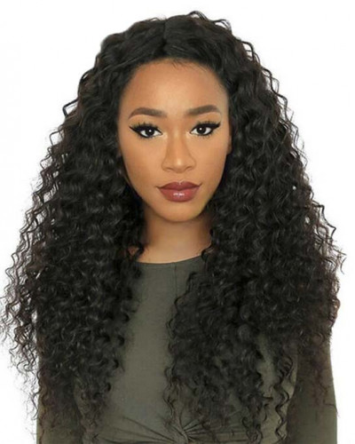 Glueless Virgin Brazilian Hair 130% Density Loose Curly 360 Lace Wigs