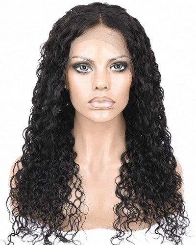 100% Malaysian Human Hair Pre-Plucked 150% Density Loose Curly 360 Lace Wigs
