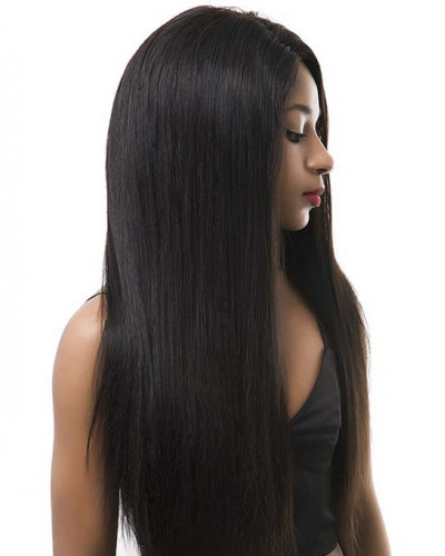 Silky Straight 130% Density Virgin Brazilian Hair 360 Lace Wigs