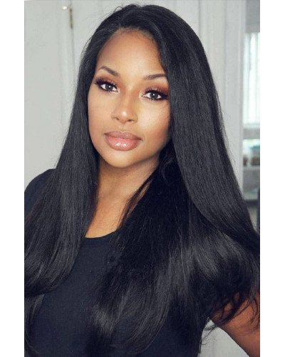6in Lace Front Wigs Silky Straight Brazilian Virgin Hair