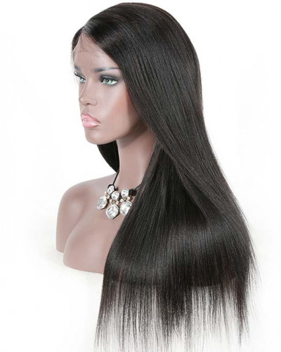 Unprocessed Pre-Plucked Yaki Straight 150% Density 360 Lace Wigs