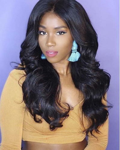 Unprocessed Remy Malaysian Hair 130% Density Body Wave 360 Lace Wigs