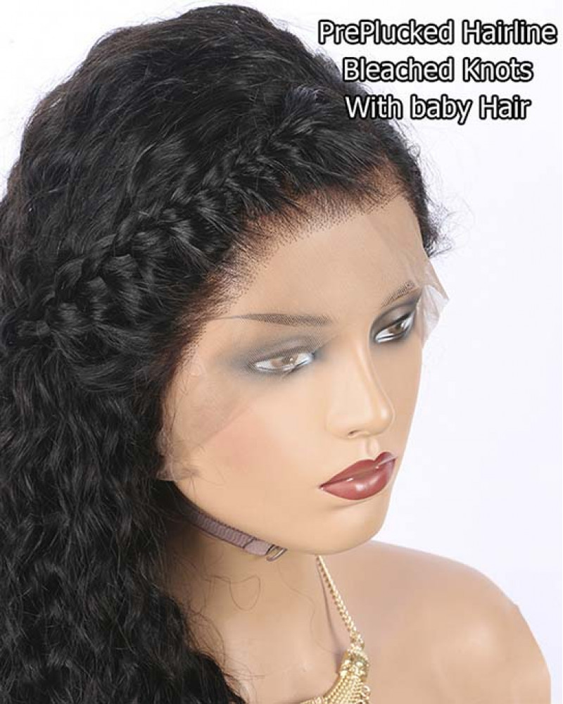 100% Malaysian Human Hair Water Wave 150% Density 360 Lace Wigs