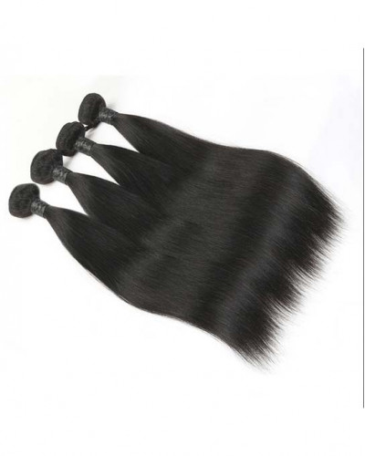 4 Bundles Silky Straight Brazilian Virgin Human Hair Weaves