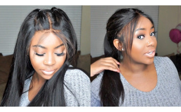 Human hair wigs with bangs