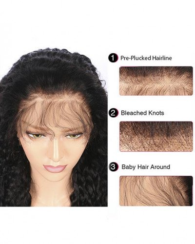 Short Curly Bob 150% density Brazilian Virgin Hair Lace Front Wigs