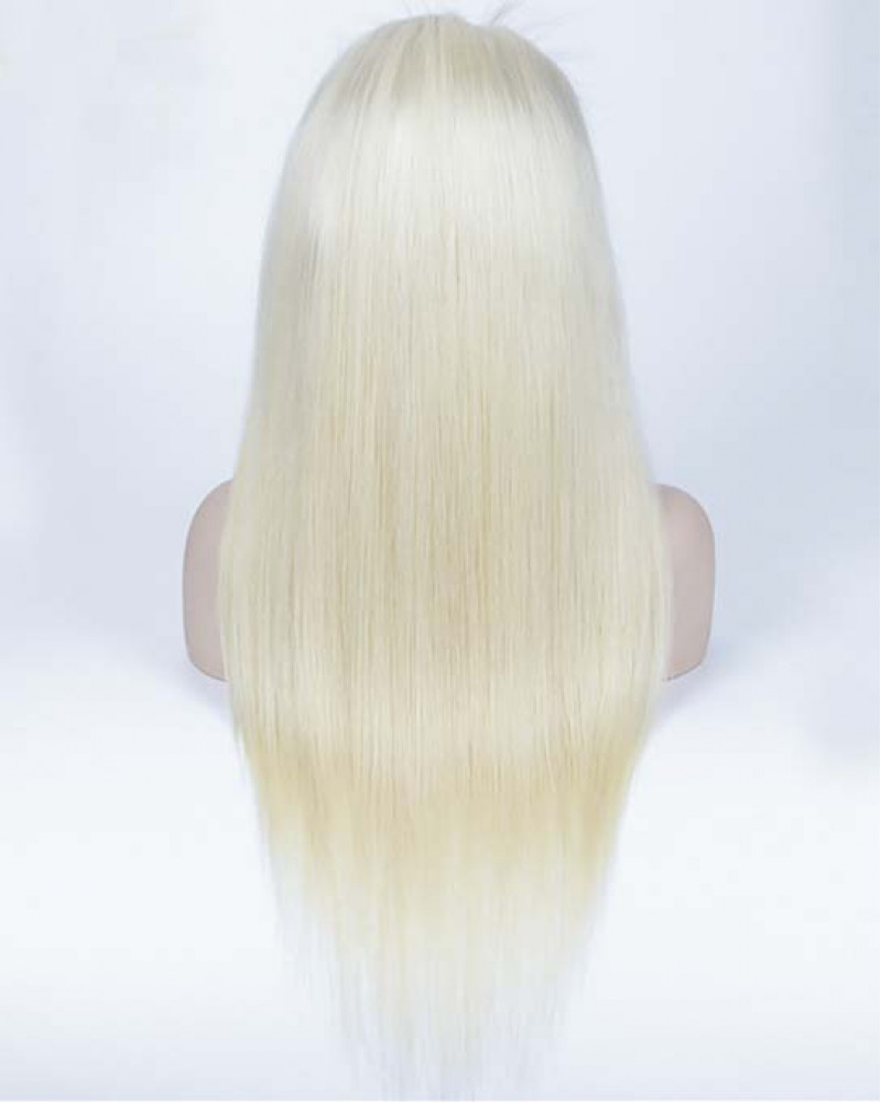 613 Color Silky Straight Human Hair Full Lace Wigs